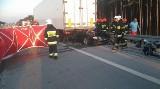 Tragiczny wypadek na drodze S8 pod Łaskiem - nie żyje kierowca [zdjęcia]