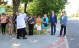 Zmodernizowana ulica Szkolna w Gorzycach już otwarta. Wiceminister Rafał Weber chwalił efekty przebudowy [ZDJĘCIA]