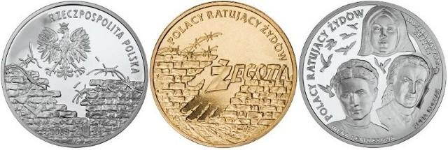 Na monetach umieszczono wizerunki kobiet, które narażały swoje życie ratując Żydów.