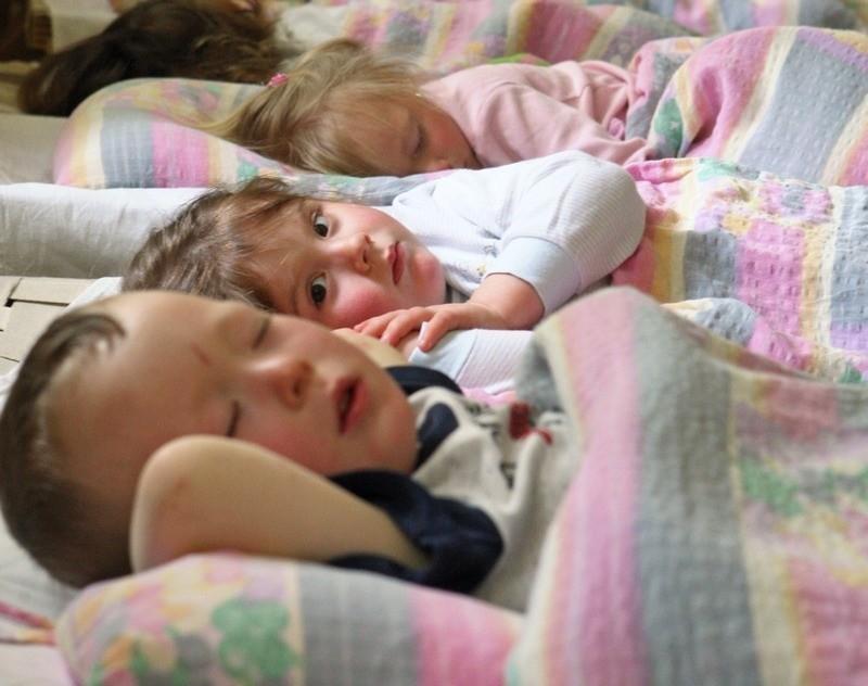 Dzieci w żłobku w Ustce.