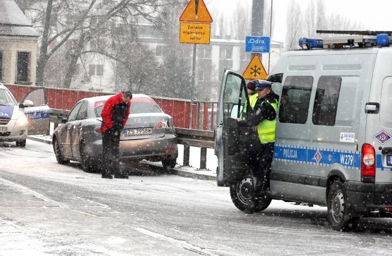 Pierwszy śnieg w grudniu w Szczecinie