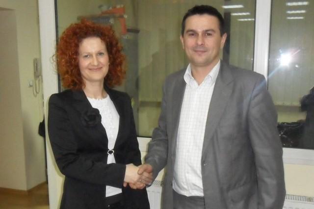 Jolanta Konsek podziękowała za dotychczasową pracę Grzegorzowi Mankiewiczowi.