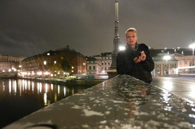 Maciej Matusik studiuje informatykę, a swoją wiedzę przekazuje seniorom. Przy okazji wyjazdu mógł także zobaczyć Sztokholm.
