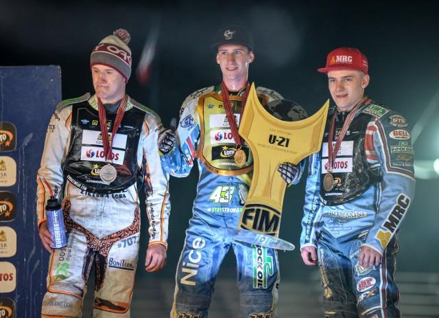 IMŚ juniorów: 1. Ma Fricke (Australia), 2. Krystian Pieszczek (Polska), 3. Robert Lambert (Wielka Brytania).
