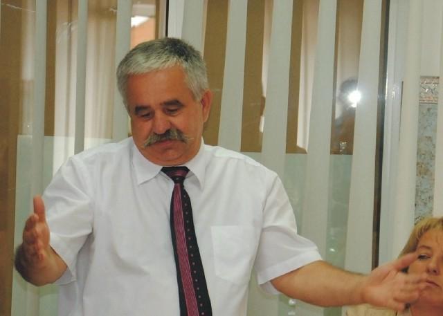 Lesław Lisowski, pełnomocnik grupy inicjatywnej w sprawie referendum.