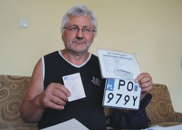 - Co miesiąc płacę ponad tysiąc złotych raty leasingowej. Zamiast ciągnika mam tylko jego tablicę rejestracyjną, a traktor muszę wynajmować od kogoś innego – mówi Jacek Kurcek z Orłów.