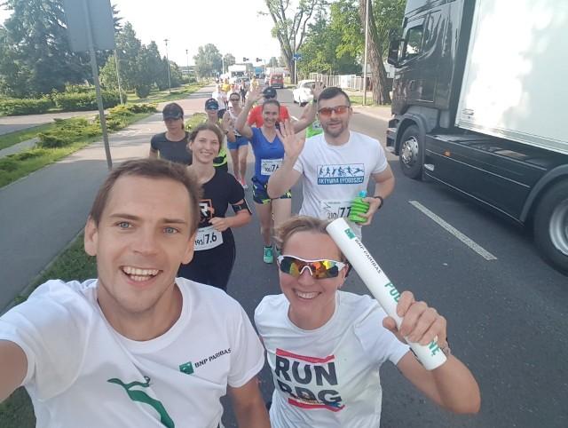 W akcję zaangażowali się również biegacze z Bydgoszczy