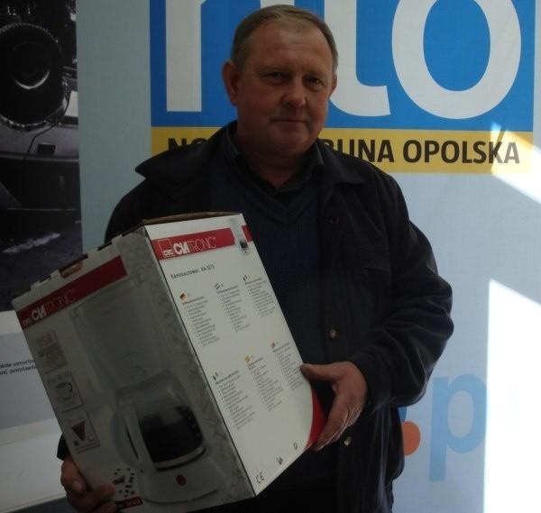 Jan Skokuń z Lubrzy wygrał sokowirówkę.