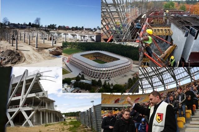 To jedna z największych inwestycji w województwie podlaskim. Zobaczcie, jak powstawał Stadion Miejski w Białymstoku, na którym mecze rozgrywa Jagiellonia. Zobacz kawałek historii!