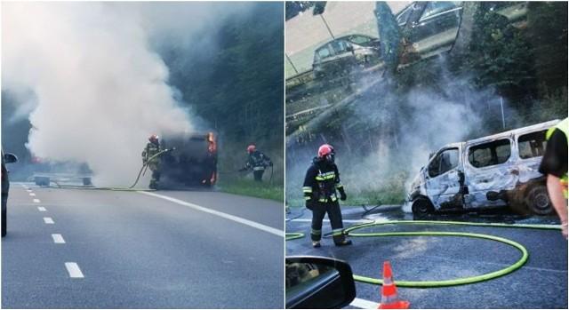 Pożar samochodu na S3.