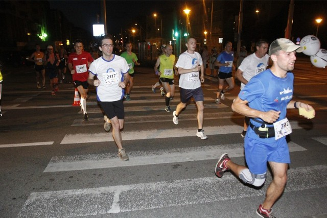 Wrocław, nocny półmaraton 2013