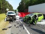 Cierpice. Śmiertelny wypadek na DK10 pod Toruniem. Mamy zdjęcia z miejsca zdarzenia