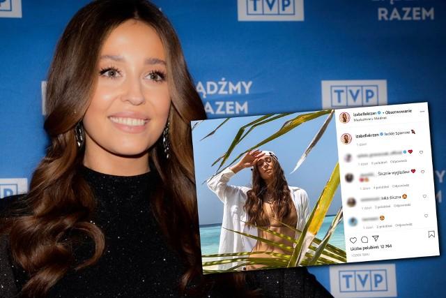 """Ostatnie tygodnie były bardzo pracowite dla Izabelli Krzan. Miss Polonia z 2016 r., którą do tej pory widzowie TVP znali głównie z programu """"Koło Fortuny"""" dołączyła do ekipy prowadzących """"Pytanie na śniadanie"""". Iza świetnie odnalazła się w nowej roli, teraz przyszedł czas na zasłużone wakacje. Prezenterka wybrała się na Malediwy, a zdjęciami pochwaliła się na swoim Instagramie. Zobacz zdjęcia w galerii."""