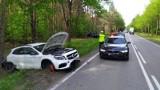 """Wojszki. Zderzenie trzech samochodów na krajowej """"19"""". Jedna osoba trafiła do szpitala (zdjęcia)"""
