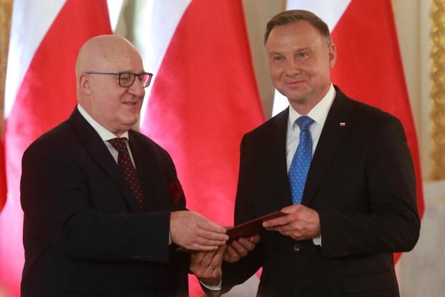 Prezydent Andrzej Duda i szef PKW