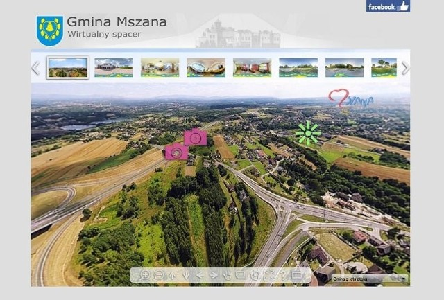 Wybierz się na wirtualny spacer po Mszanie