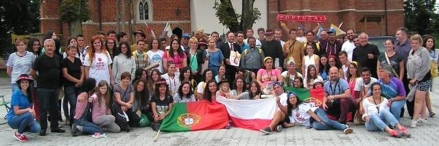 Brawo Polska! - tak pielgrzymi Światowych Dni Młodzieży z Portugalii pożegnali się z Bejscami.