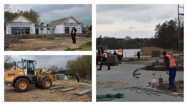 Prace polegające na budowie infrastruktury rekreacyjno-wypoczynkowej na plaży nad jeziorem w Tarpnie idą pełną parą.  Głównym wykonawcą jest grudziądzka firma Livoro Group. Całość powinna być gotowa na koniec maja.