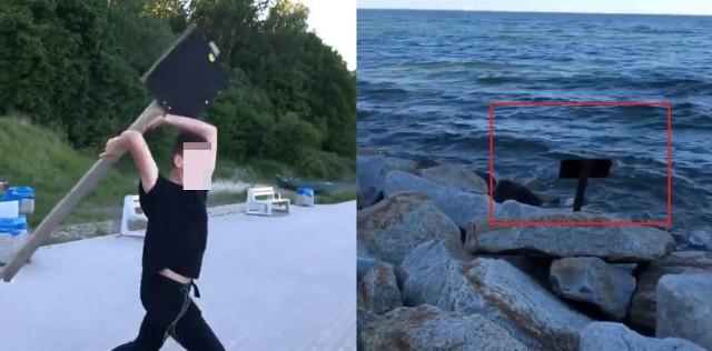 Policja ustala, kim są wandale, którzy niszczą infrastrukturę w Gdyni, nagrywają swoje wyczyny i filmy umieszczają w sieci
