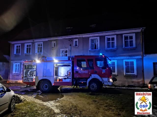 Do pożaru doszło w jednym z budynków wielorodzinnych przy ulicy Leśnej w Złocieńcu.