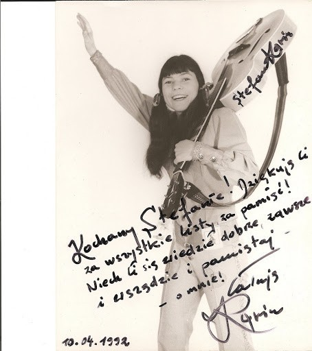 Karin Stanek z autografem dla najwierniejszego z fanów