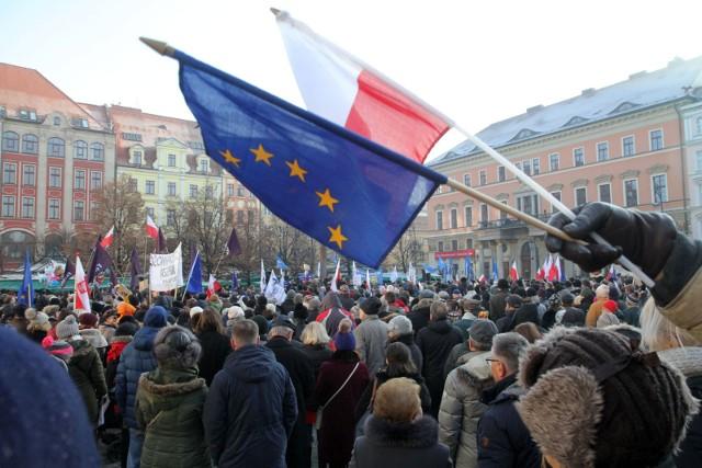 Protest KOD-u na placu Solnym, zdjęcie ilustracyjne