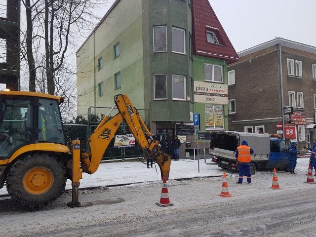 Atak zimy w Białymstoku. Mróz uszkodził rury w centrum miasta
