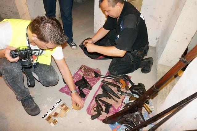 Nielegalna broń zarekwirowali policjanci z Zabrza