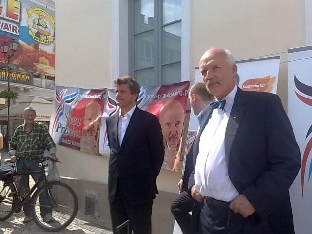 Janusz Palikot i Janusz Korwin-Mikke w Białymstoku