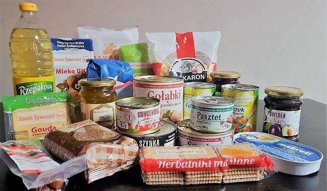 Takie produkty mogą się znaleźć w paczkach żywnościowych. Fot. ze strony bankizywności.pl