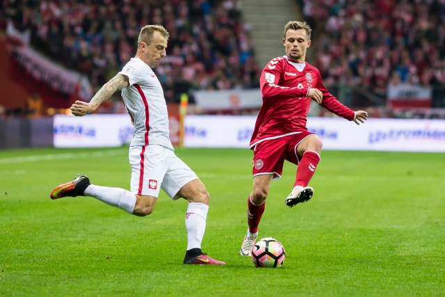 Kamil Grosicki zaliczył bardzo dobry mecz przeciwko Danii