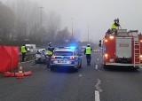 Potworny wypadek w Katowicach: TIR staranował samochód na autostradzie A4. Pasażer zginął na miejscu