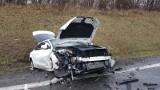 Śmiertelny wypadek w Poganicach między Słupskiem a Lęborkiem 9.03.2019. Jedna osoba nie żyje, jedna trafiła do szpitala