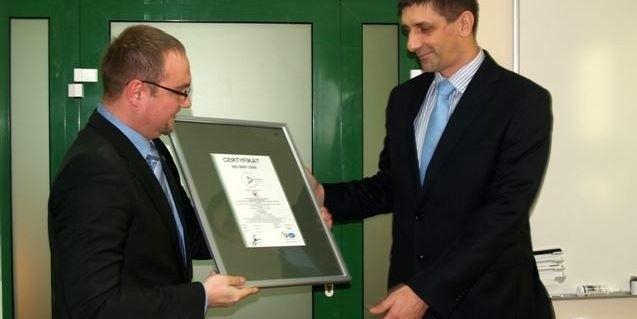 Z prawej dyrektor Meditransu Mirosław Dąbkowski