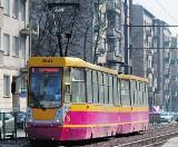 Stoją tramwaje na Zachodniej