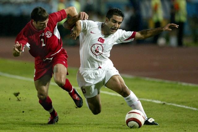 Gruzini (na zdjęciu z lewej Kakhaber Mjawanadze) nie odpuszczali Turkom przez 90 minut. I punkt zdobyli.