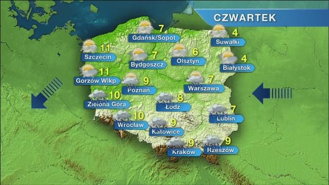 - Dzisiaj (czwartek) już od rana będzie słonecznie - zapowiada Krzysztof Ścibor z Biura Prognoz Pogody Calvus. - Ale niestety ma być chłodno. To skutek wyżu znad Europy wschodniej, który kieruje do nas masy suchego, kontynentalnego i chłodnego powietrza.