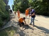 Trwa remont drogi powiatowej w Piórkowie. Wjazd od Wszachowa jest zamknięty (ZDJĘCIA)