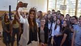 Miss Polski 2016 Paulina Maziarz odwiedziła Liceum Ogólnokształcące w Zwoleniu