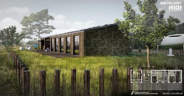 Folkowy dom pasywny z trawą zamiast dachuFolkowy dom pasywny. Na dachu posadzą trawę (WIZUALIZACJE)