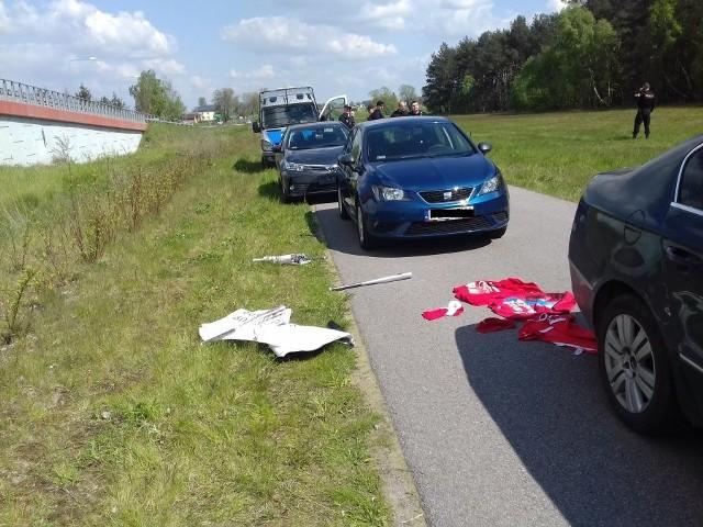 Policyjna obława na kiboli na autostradzie A1!