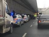 Tunel Trasy W-Z w Łodzi. Cztery kolizje w tym samym czasie. Utrudnienia w ruchu ZDJĘCIA