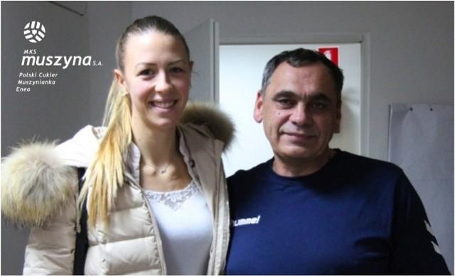 Tanja Sredić i trener Bogdan Serwiński
