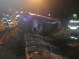 Wypadek na przejeździe kolejowym w Drzewicy. Kierowca był pijany