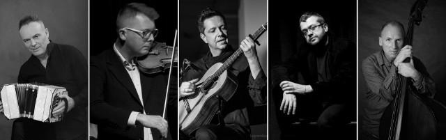 Wiesław Prządka Quinteto Tango Nuevo czyli Wiesław Prządka, Marcin Suszycki, Marek Piątek, Rafał Karasiewicz i Zbigniew Wrombel.