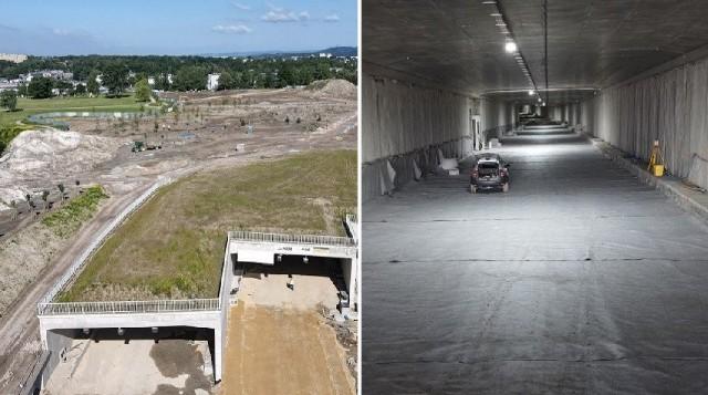 Trwa budowa Trasy Łagiewnickiej. W ramach inwestycji przebito tunele, pojazdy budowy mogą nimi już przejeżdżać na całej długości.  Nad tunelem między sanktuariami Bożego Miłosierdzia i św. Jana Pawła II sadzone są drzewa.