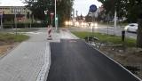 Drogowcy wykazali się pomysłowością przy łączenie starej i nowej ścieżki rowerowej w Kielcach