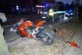 Pościg ulicami Słupska zakończył się wypadkiem. Motocykliście grozi więzienie [ZDJĘCIA]