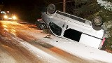 Wypadek nieoznakowanego radiowozu policji na DK 28 niedaleko Nowego Sącza