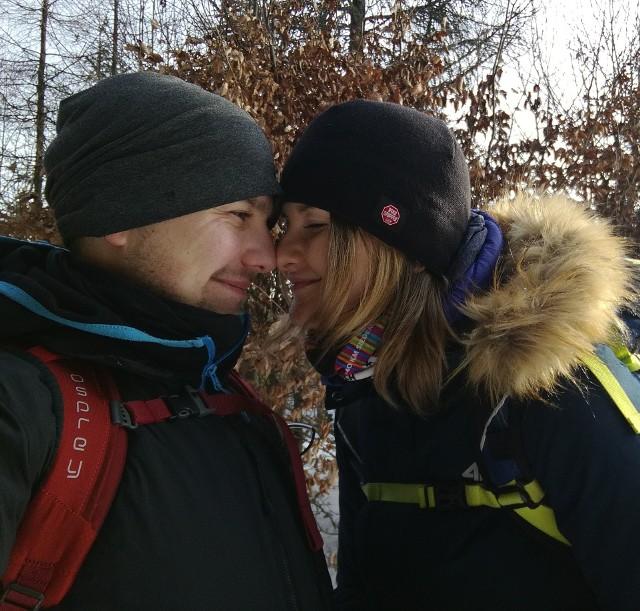 Mateusz Łazarowicz z żoną Anią